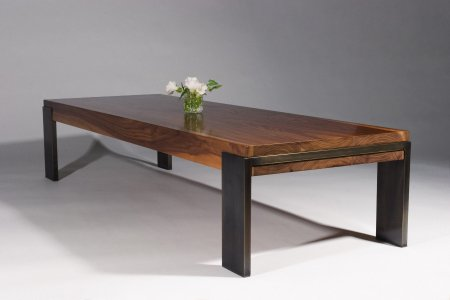 Walnut & Metal Coffee Table